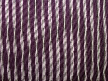 St Ives Mulberry 100% Cotton Woven Ticking Curtain / Upholstery Fabric